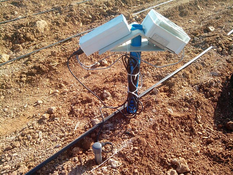 Sonda para determinar las propiedades del suelo