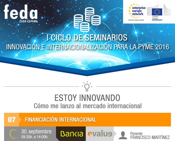 7º Taller GRATUITO Financiación Internacional. 30 septiembre. 09:30 h. en Albacete.