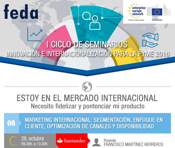 8º Taller GRATUITO Marketing Internacional. 28 Octubre. 09:30 h. en Albacete.