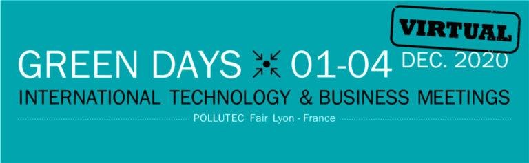 Green days -2020 - Encuentro Virtual Empresarial durante la feria Pollutec - del 1 al 4 de diciembre