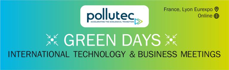GREEN DAYS POLLUTEC 2021: la cita de los expertos internacionales del sector del medioambiente, la energía y la economía circular