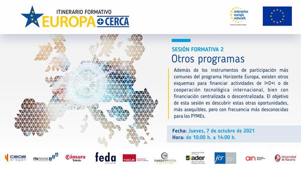 2º Seminario formativo EUROPA+CERCA: Horizonte Europa